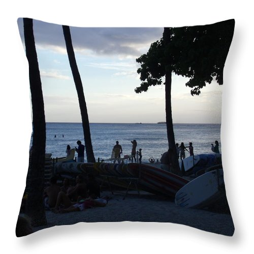 Hawaii Throw Pillow featuring the photograph Hawaiian Afternoon by Daniel Sauceda