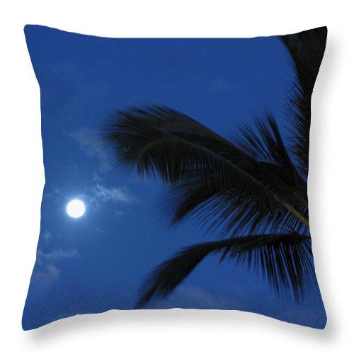 Moon Throw Pillow featuring the photograph Hawaiian Moon by Sarah Houser