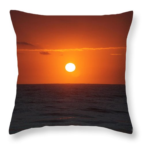 Sunrise Throw Pillow featuring the photograph Hawaiian Sunrise by Nadine Rippelmeyer