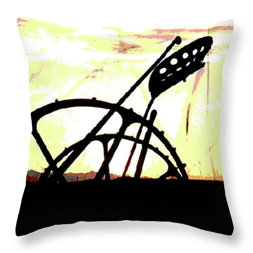Al Bourassa Throw Pillow featuring the photograph Hay Cutter Silhouette by Al Bourassa