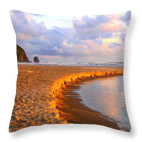 Haystack Heaven Throw Pillow featuring the digital art Haystack Heaven by Will Borden