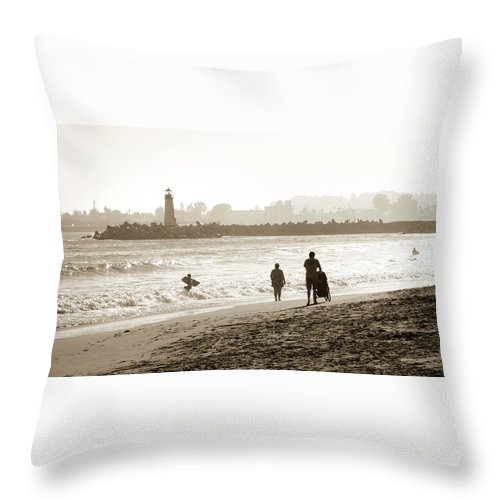 Santa Cruz Throw Pillow featuring the photograph Hazy Lazy Afternoon by Marilyn Hunt