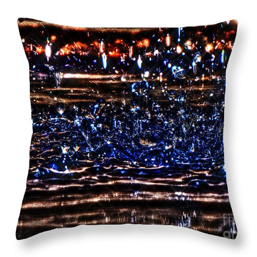 Water Throw Pillow featuring the photograph Hdr Water Dancer by September Stone