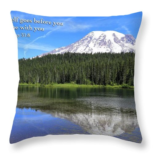 He Goes Before You Throw Pillow featuring the photograph He Goes Before You by Lynn Hopwood
