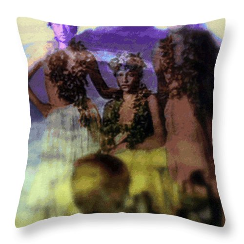 Tropical Interior Design Throw Pillow featuring the photograph He Hohona Aeoia by Kenneth Grzesik