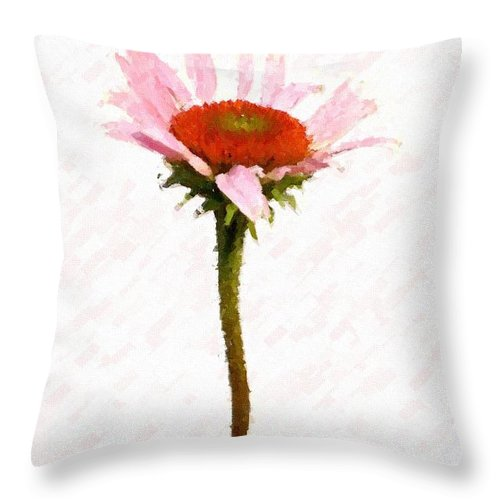 Caulk Throw Pillow featuring the photograph He Loves Me He Loves Me Not by Angie Tirado