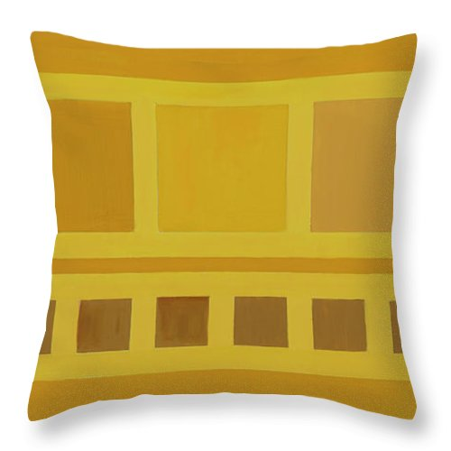 He Tu Throw Pillow featuring the painting He Tu Earth by Adamantini Feng shui