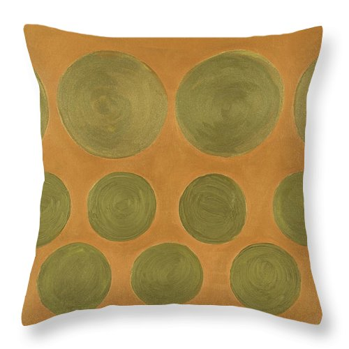 Adamantini Throw Pillow featuring the painting He Tu Metal by Adamantini Feng shui
