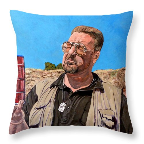 Walter Throw Pillow featuring the painting He Was One Of Us by Tom Roderick