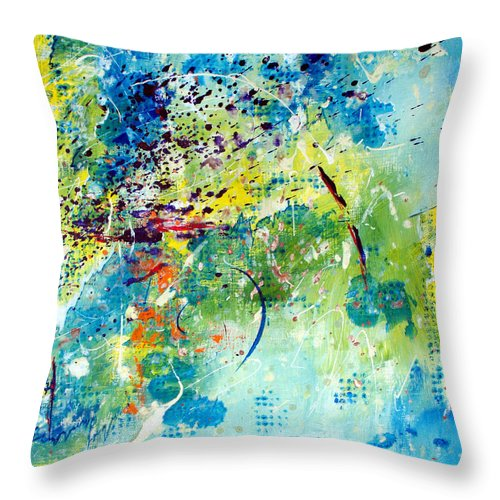 ruth Palmer Throw Pillow featuring the painting He Watches Over Me II by Ruth Palmer