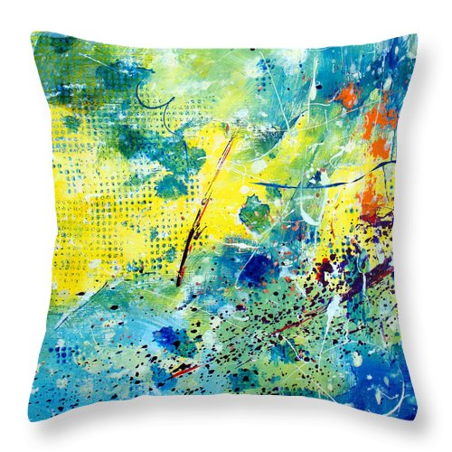 ruth Palmer Throw Pillow featuring the painting He Watches Over Me by Ruth Palmer
