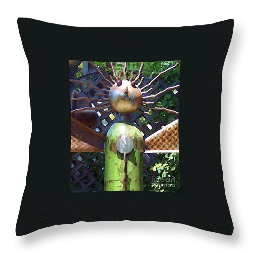 Sculpture Throw Pillow featuring the photograph Head For Detail by Debbi Granruth