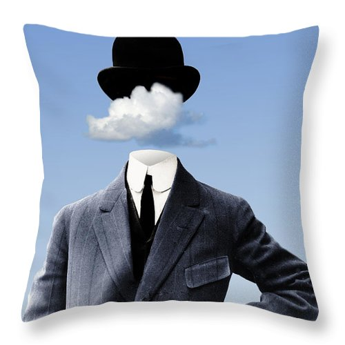 head In The Clouds Throw Pillow featuring the digital art Head In The Clouds by Kenneth Rougeau