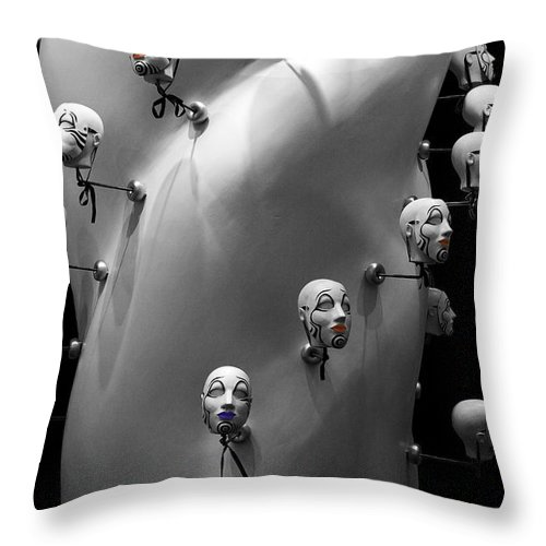 Heads Throw Pillow featuring the photograph Head Job by Tim Hightower