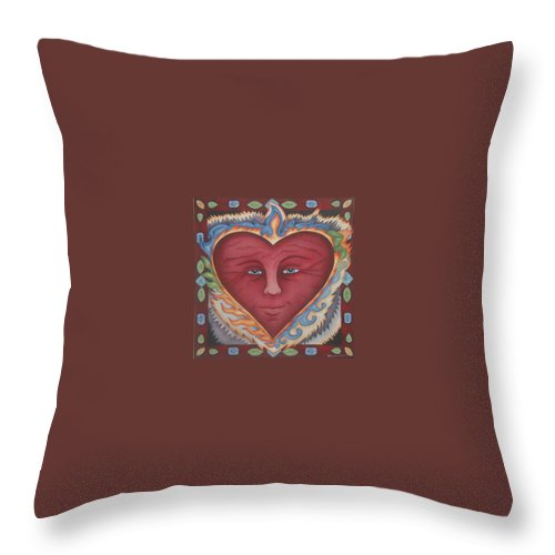 Heart Throw Pillow featuring the painting Headheartandspirit.jpg by Jeniffer Stapher-Thomas