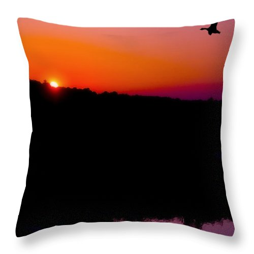 Sunset Throw Pillow featuring the photograph Heading Home by Kenneth Krolikowski