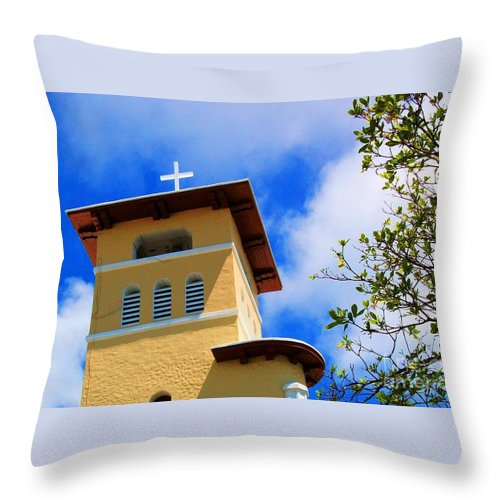 Cross Throw Pillow featuring the photograph Heads Up by Debbi Granruth