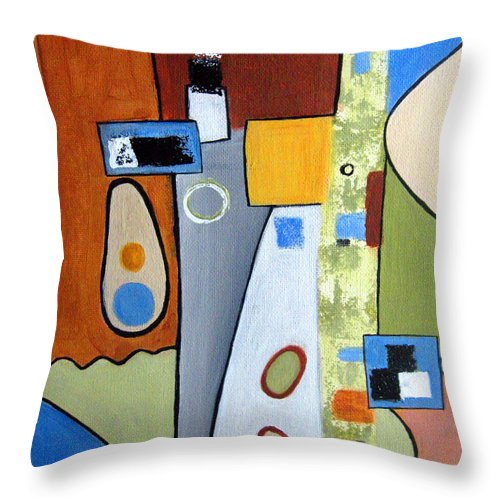 Abstract Throw Pillow featuring the painting Headspin II by Ruth Palmer