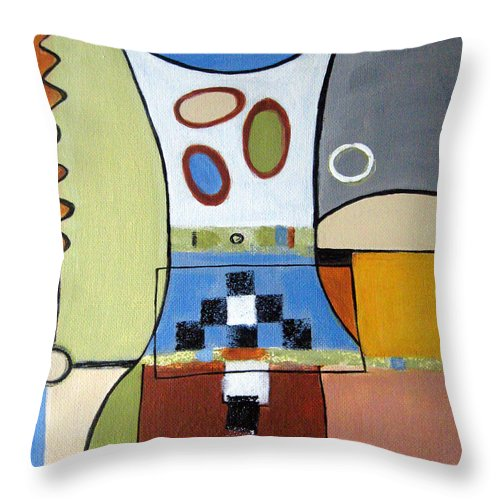 Abstract Throw Pillow featuring the painting Headspin by Ruth Palmer