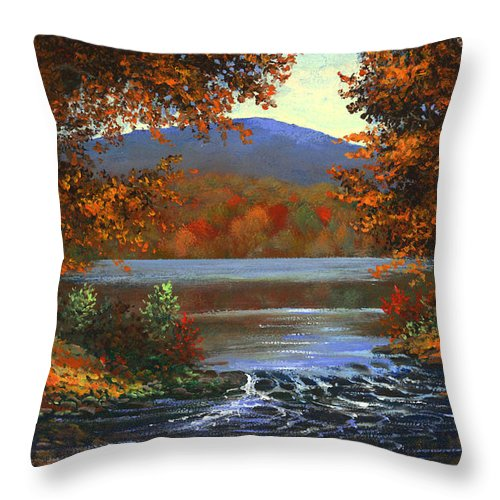 Landscape Throw Pillow featuring the painting Headwaters by Frank Wilson
