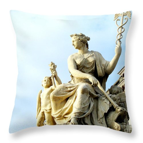 Statues Throw Pillow featuring the photograph Healing by Amanda Barcon