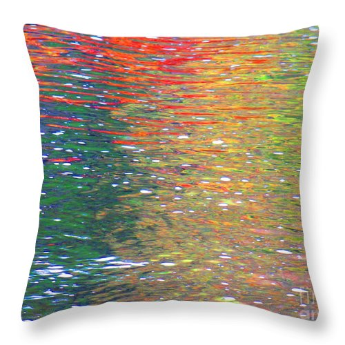 Water Art Throw Pillow featuring the photograph Healing Journey by Sybil Staples