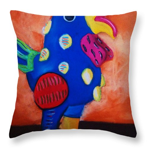 Chick Throw Pillow featuring the painting Hear Ye Hear Ye by Melinda Etzold