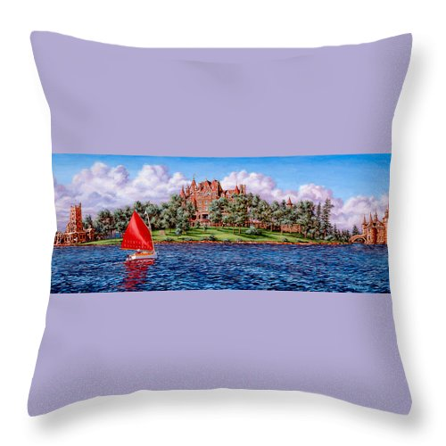 Castle Throw Pillow featuring the painting Heart Island by Richard De Wolfe