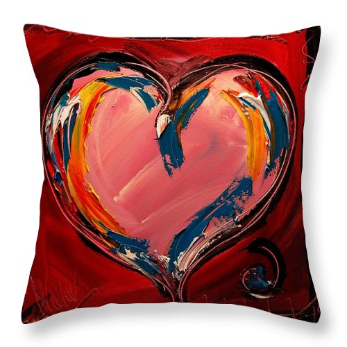 Heart Throw Pillow featuring the painting Heart by Mark Kazav