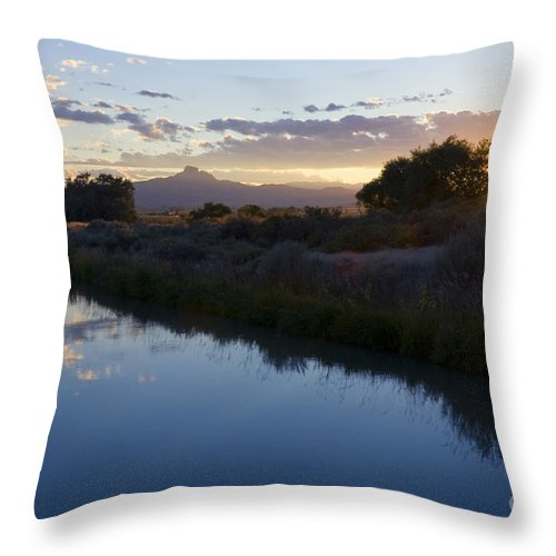 Heart Mountain Throw Pillow featuring the photograph Heart Mountain by Idaho Scenic Images Linda Lantzy
