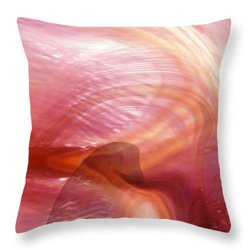 Abstract Art Throw Pillow featuring the digital art Heart Of Dreams by Linda Sannuti