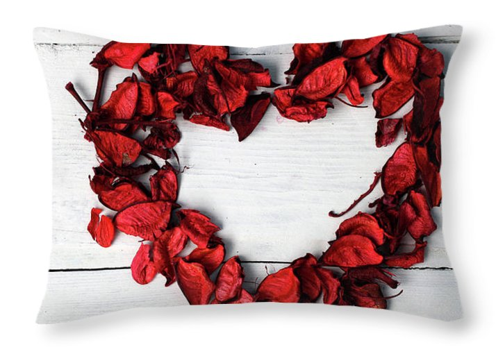 Heart Of Rose Petals Throw Pillow For Sale By Katsiaryna Kalesnikava 20 X 14