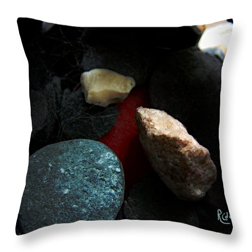 Rocks Throw Pillow featuring the photograph Heart Of Stone by RC DeWinter