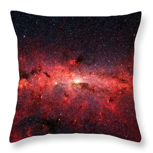 Milky Way Throw Pillow featuring the photograph Heart Of The Milky Way by Nasa