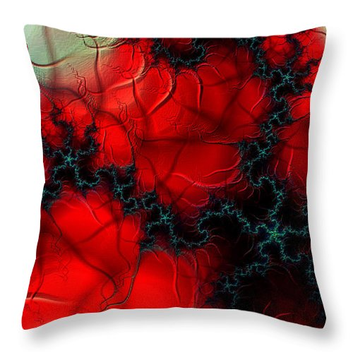 Clay Throw Pillow featuring the digital art Heart Pulse by Clayton Bruster