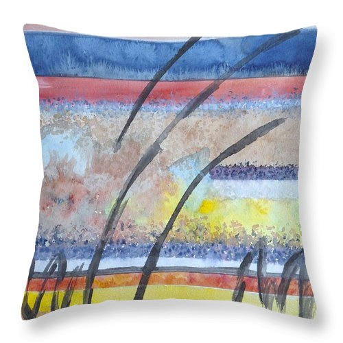 Abstract Throw Pillow featuring the painting Heartbeat by Jacqueline Athmann