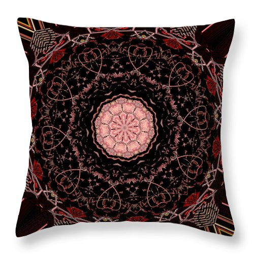 Hearts Forever Throw Pillow featuring the mixed media Hearts Forever by Natalie Holland