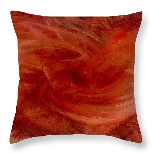 Heart Art Throw Pillow featuring the digital art Hearts Of Fire by Linda Sannuti
