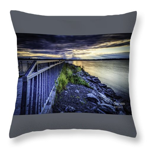 Geneva Throw Pillow featuring the photograph Heaven Let Your Light Shine Down by Scott Reyes