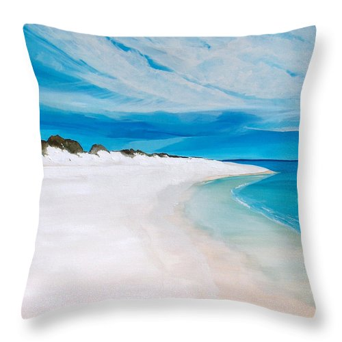 Beach Throw Pillow featuring the painting Heaven by Racquel Morgan