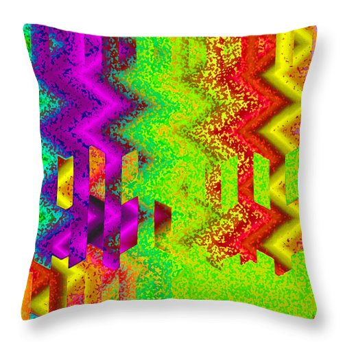 Abstract Throw Pillow featuring the digital art Heaven by Ruth Palmer
