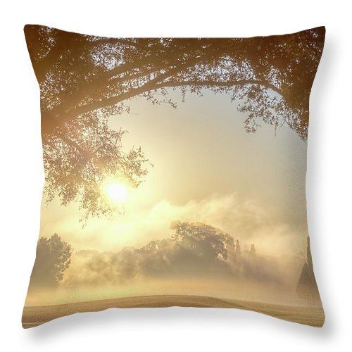 Sunrise Throw Pillow featuring the photograph Heavenly Arch Sunrise by Ronald Kotinsky