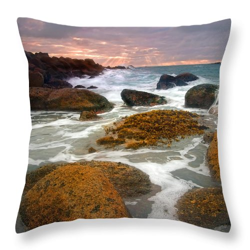 Sunrise Throw Pillow featuring the photograph Heavenly Dawning by Mike Dawson