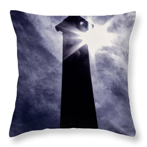 Cemetery Throw Pillow featuring the photograph Heavenly Eclipse by Scott Wyatt