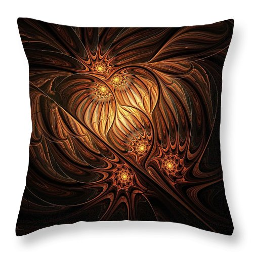 Digital Art Throw Pillow featuring the digital art Heavenly Onion by Amanda Moore