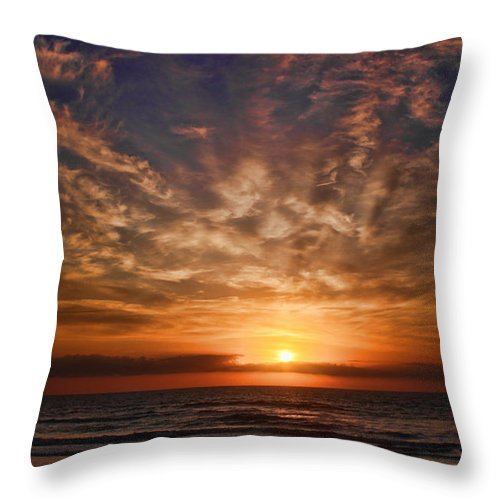 Jacksonville Throw Pillow featuring the digital art Heavenly Sky by Robert Adelman