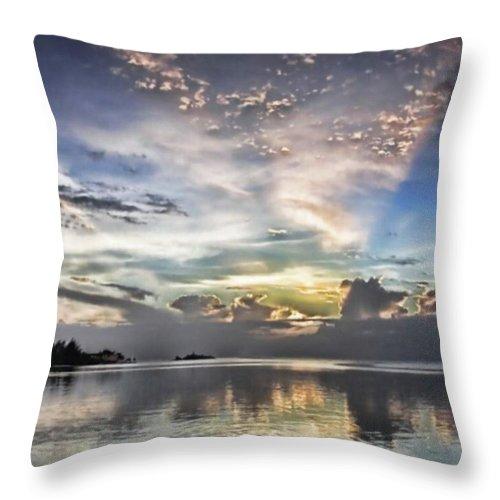 Jamaica Throw Pillow featuring the photograph Heaven's Light - Coyaba, Ironshore by John Edwards