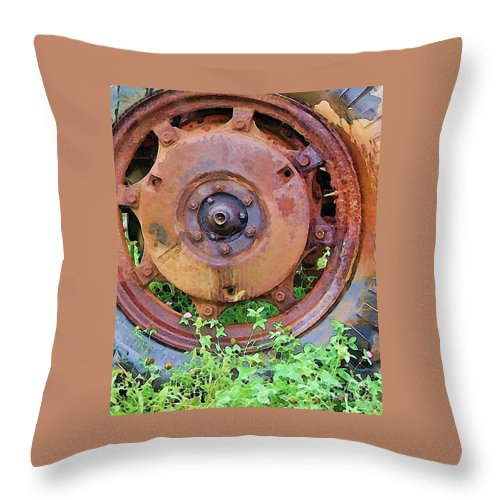 Rust Throw Pillow featuring the photograph Heavy Metal by Debbi Granruth