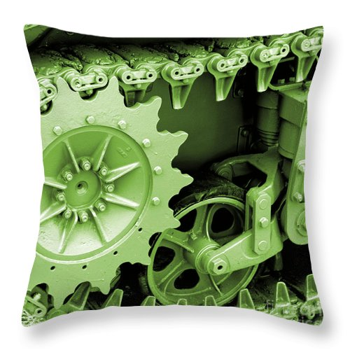 Wwii Throw Pillow featuring the photograph Heavy Metal In Green by Valerie Fuqua