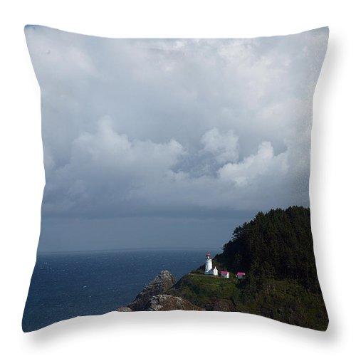 Heceta Head Throw Pillow featuring the photograph Heceta Head Lighthouse by Randall Ingalls